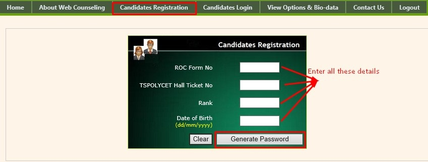 Step 1 - Candidate Registration